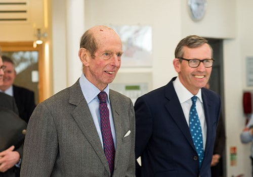 HRH The Duke of Kent in the Inpatient Unit